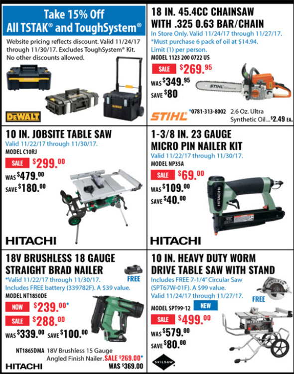 Acme Tools Black Friday 2017 Tool Deals Page 2A