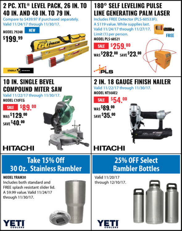 Acme Tools Black Friday 2017 Tool Deals Page 2B