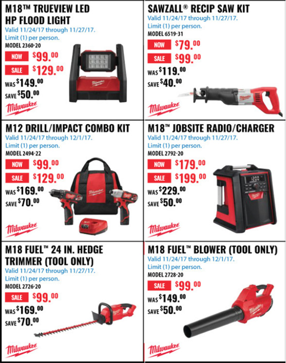 Acme Tools Black Friday 2017 Tool Deals Page 4B