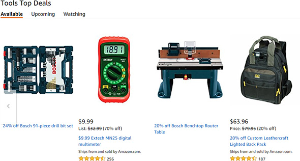 Amazon Bosch Router Table Deal Mention