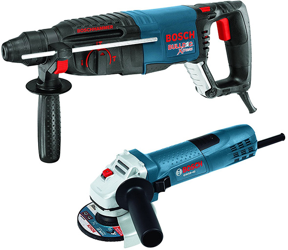 Bosch Rotary Hammer and Angle Grinder Bundle