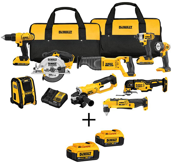 Dewalt 20V 9-Tool and 4 Battery Cyber Monday Combo Kit