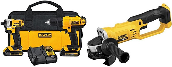 Dewalt Black Friday 2017 Drill Impact Driver and Angle Grinder Kit