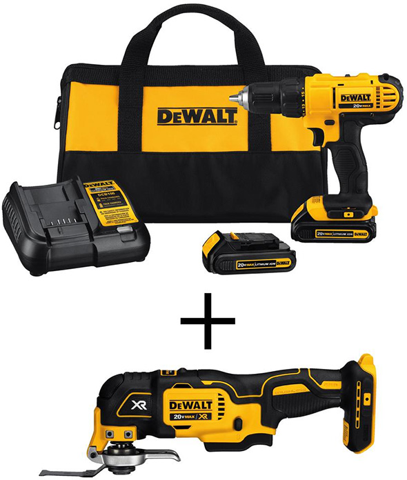 Dewalt DCD771 Drill Kit with Brushless Oscillating Tool