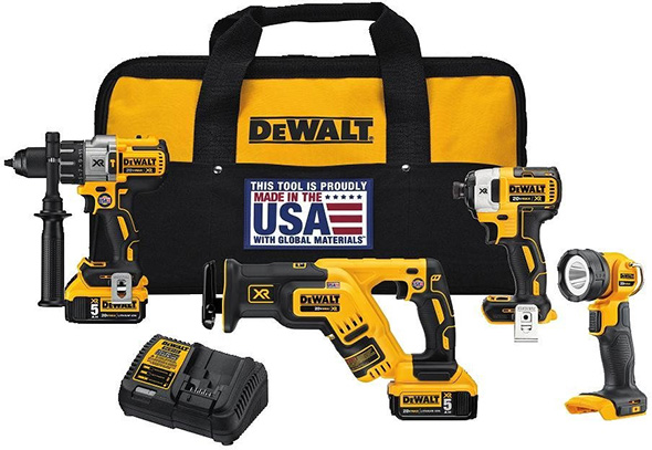 Dewalt DCK494P2 20V Max Brushless Cordless Power Tool Combo Kit