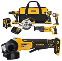 'Amazon Black Friday 2017 Dewalt Cordless Power Tool Combo Kit Deal?' from the web at 'http://toolguyd.com/blog/wp-content/uploads/2017/11/Dewalt-DCK620D2-with-Angle-Grinder-Kit-202x200.jpg'