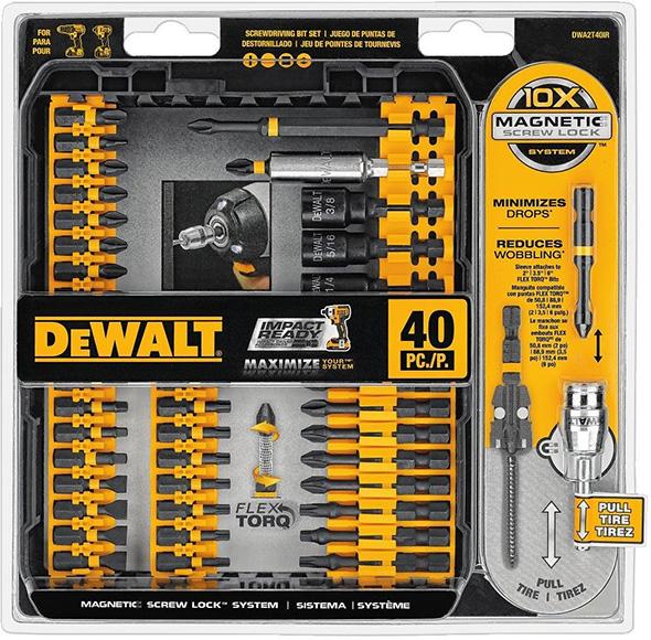 Dewalt DWA2T40IR Impact Screwdriver Bit Set