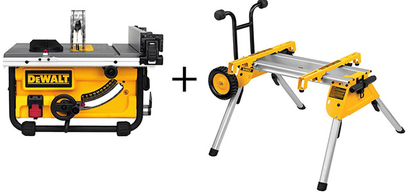 Dewalt DWE7480 DW7440RS Table Saw and Roller Stand Combo