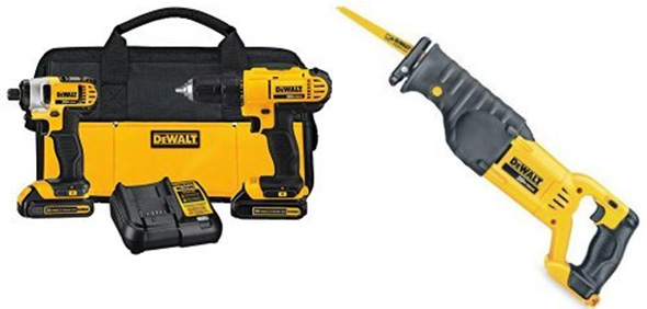 Dewalt Drill Impact Driver and Reciprocating Saw Bundle