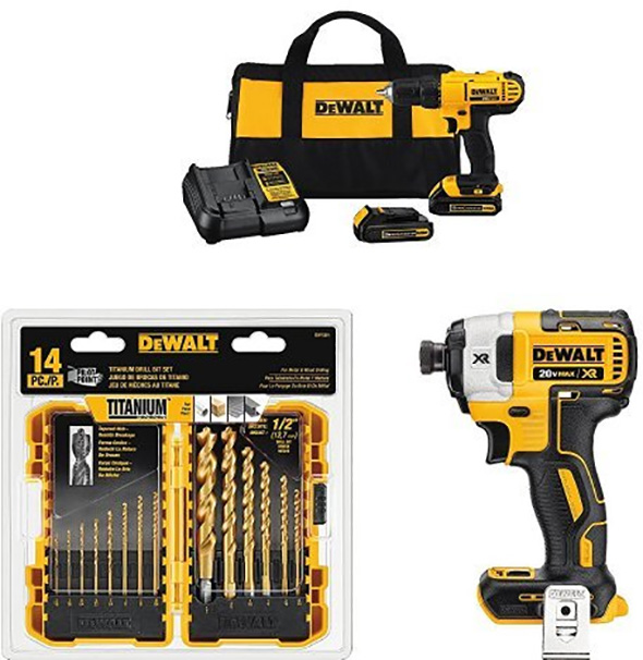 Dewalt Drill and Impact Driver and Bit Set Black Friday 2017 Special