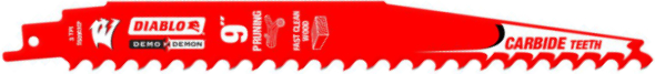 Diablo Demo Demon Pruning Carbide Tipped Reciprocating Saw Blade 9 inch