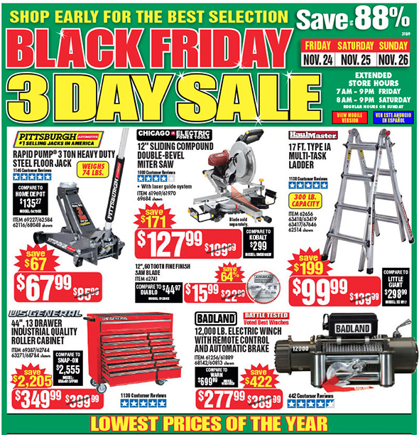 Best Harbor Freight Tools 2020 Harbor Freight Black Friday 2017 Tool Deals
