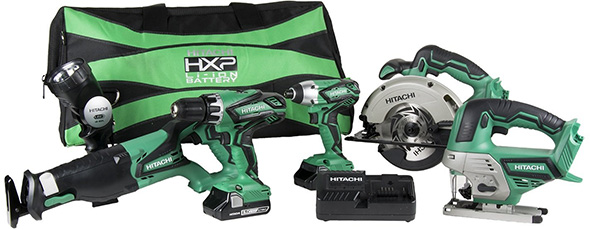 Hitachi KC18DG6LPA 18V 6-Tool Cordless Combo Kit
