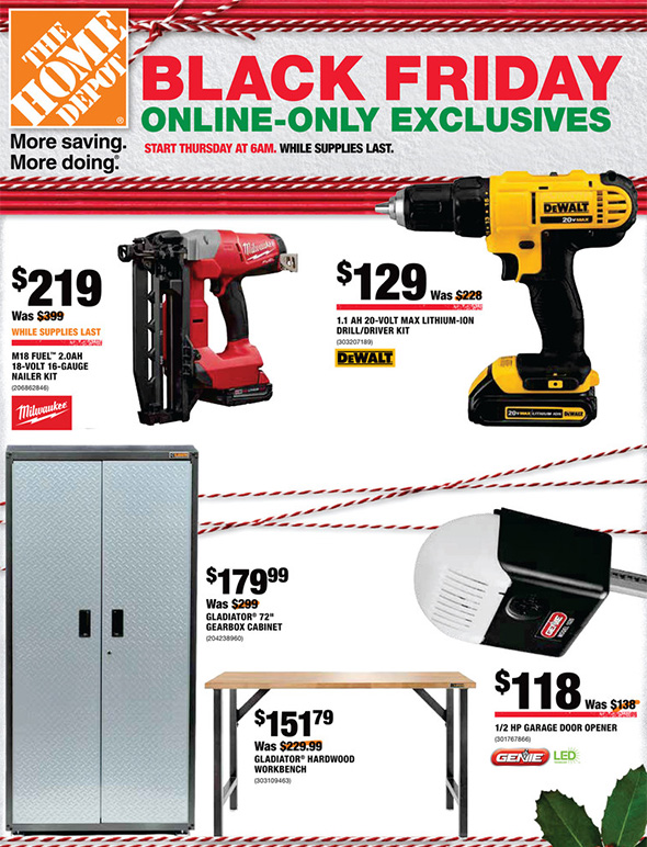 home depot black friday 2017 online only specials – live now!