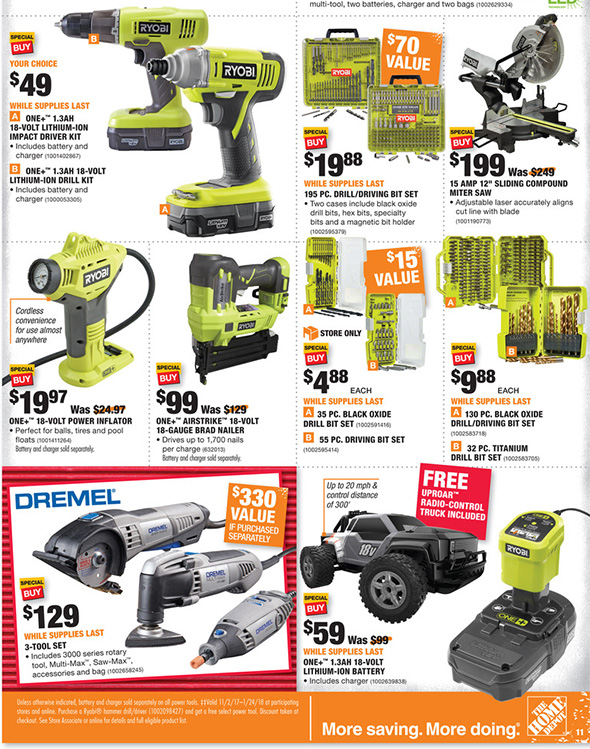 Home Depot Black Friday 2017 Tool Deals Ad Page 10