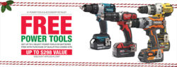 Home Depot Free Power Tools Promo Banner Black Friday 2017