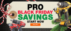 Home Depot PRO Black Friday 2018 Tool Deals