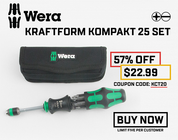 KC Tool Black Friday 2017 Wera Kraftform Kompakt Deal