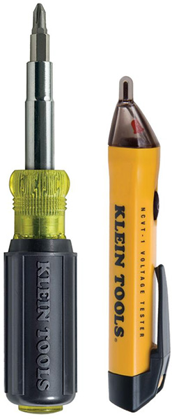 Klein 2pc Screwdriver and Voltage Detector Tool Set