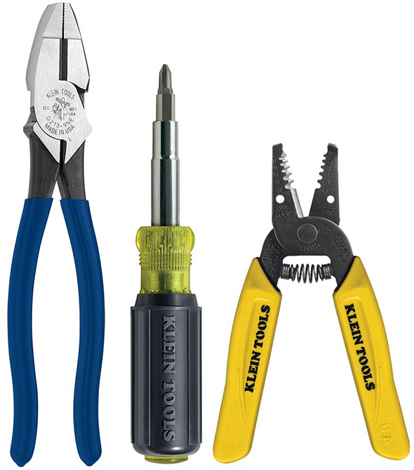 Klein 3pc Stripper Pliers and Screwdriver Tool Set