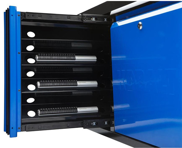 Kobalt 3000 series 45-inch Black and Blue Tool Chest Vertical Socket Storage Drawer