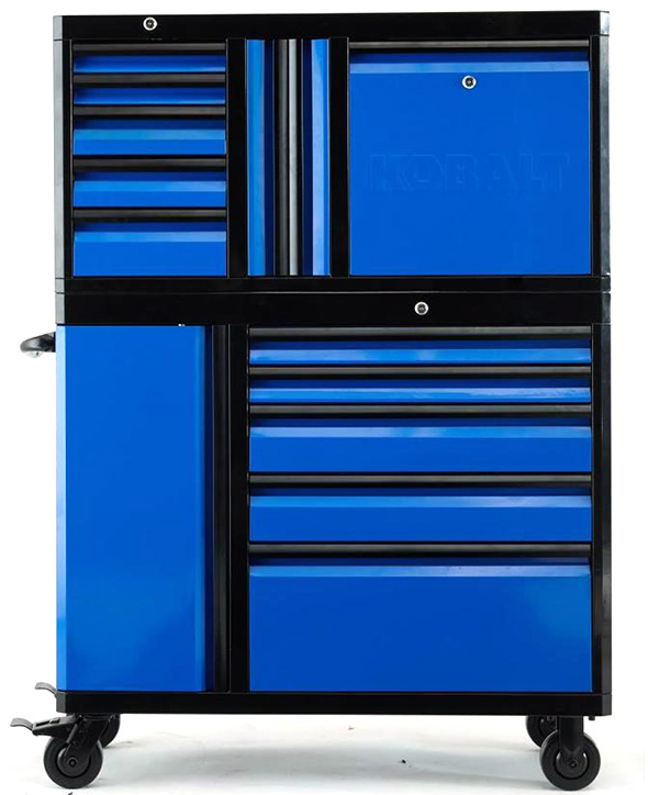 Kobalt 3000 series 45-inch Black and Blue Tool Storage Combo