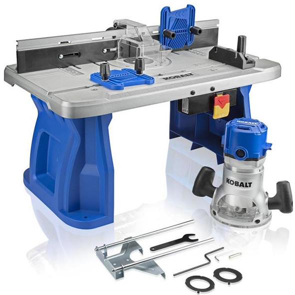 Kobalt Router and Router Table Combo Set