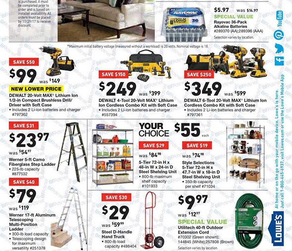 Lowes Black Friday 2017 Tool Deals Page 17