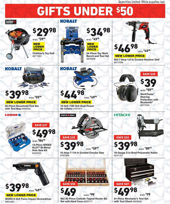 Lowes Black Friday 2017 Tool Deals Page 7