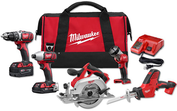 Milwaukee 2695-25CX M18 5-Tool Cordless Combo Kit