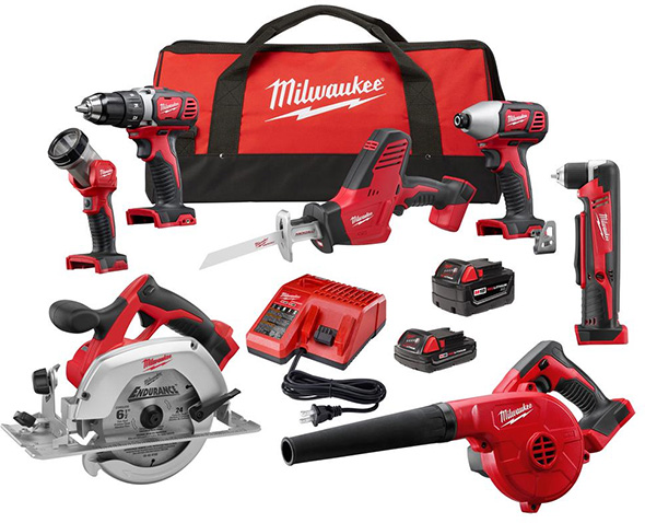 Milwaukee 2695-27C M18 7-Tool Cordless Combo Kit
