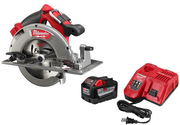 Milwaukee HD Battery with Fuel Circular Saw Bundle
