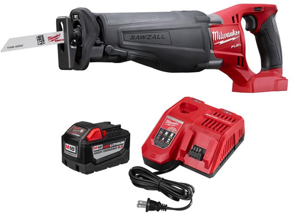 Milwaukee HD Battery with Fuel Sawzall Reciprocating Saw