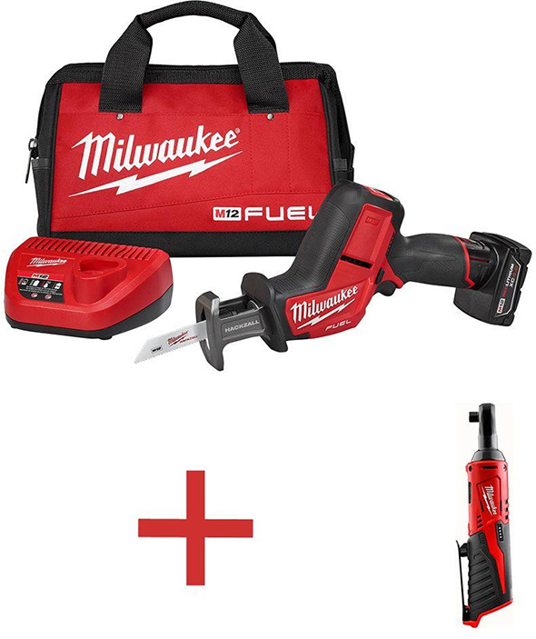Milwaukee M12 Fuel Brushless Hackzall with Free Cordless Ratchet