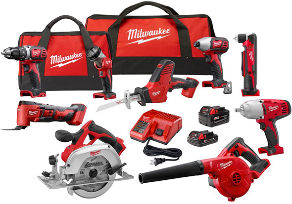 Milwaukee M18 Cyber Week 9-Tool Cordless Power Tool Combo Kit
