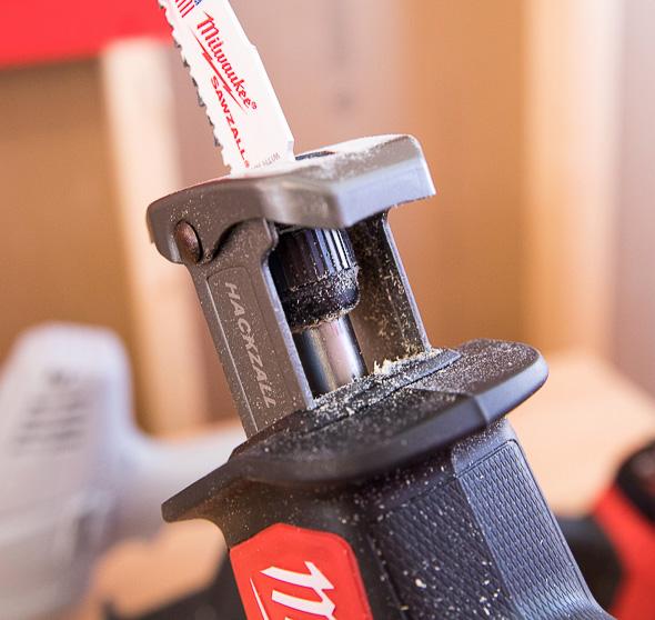 Milwaukee M18 Fuel Hackzall Blade Change Mechanism
