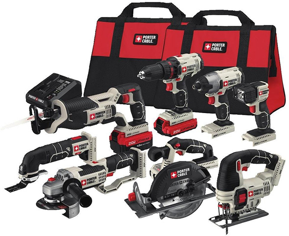 Porter Cable PCCK619L8 8-Tool Cordless Kit