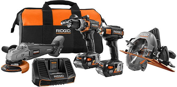 Ridgid 18V Gen5X Brushless Power Tool Combo Kit