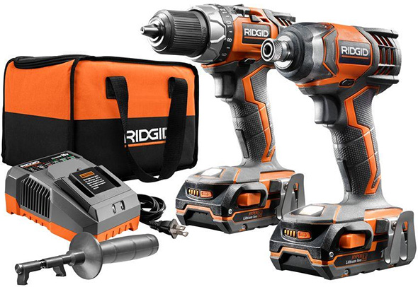 Ridgid R9602 18V Drill and Impact Driver Combo Kit