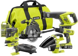 Deal of the Day: Ryobi 18V 7-Tool Cordless Power Tool Combo Kit (11/25/17)