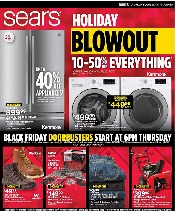 Sears Black Friday 2017 Tool Deals Page 1