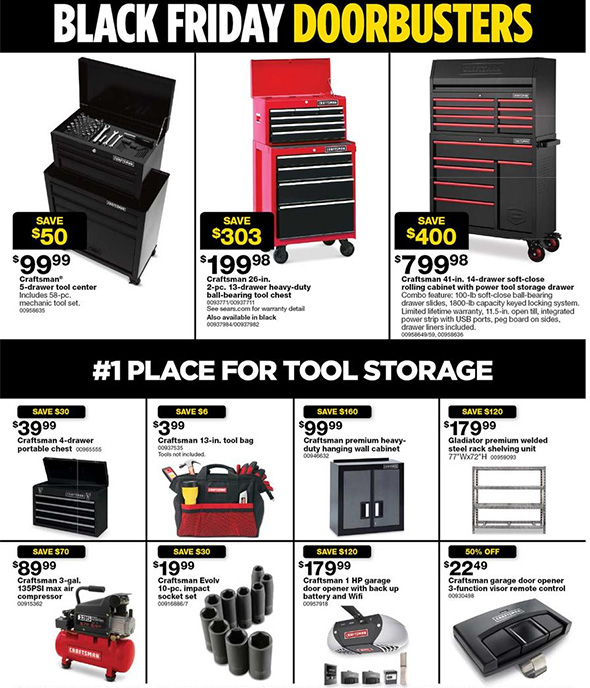 Sears Black Friday 2017 Tool Deals Page 3