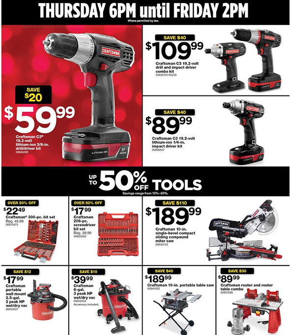 Sears Black Friday 2017 Tool Deals Page 4