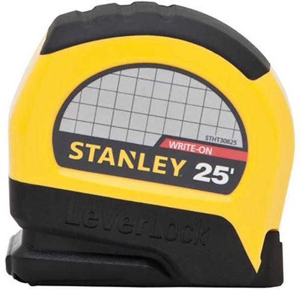Stanley 25-Foot Lever Lock Tape Measure