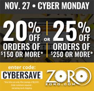 Zoro Cyber Monday 2017