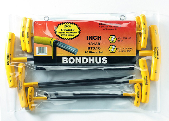 Bondhus T-Handle Hex Driver Set