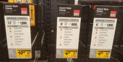Home Depot Bessey Clamp Clearance Price Tags