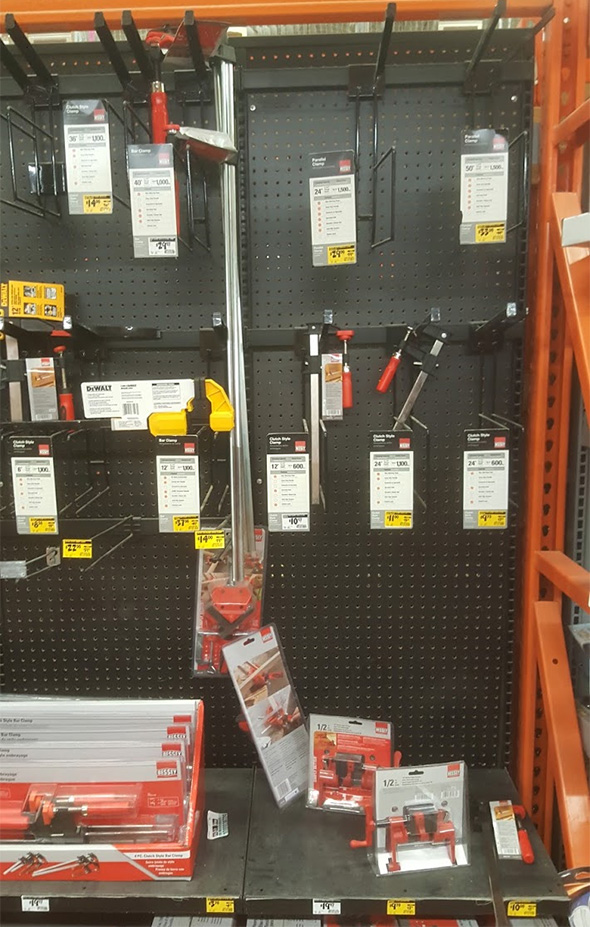 Home Depot Bessey Clamp Clearance