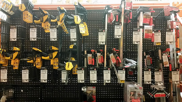 Jeff MI Home Depot Bessey Clamp Pegs