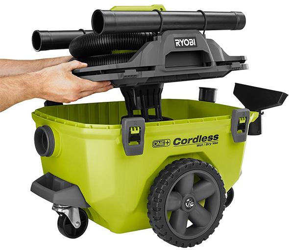 Ryobi 18V One+ Wet Dry Cordless Vacuum Top Lid